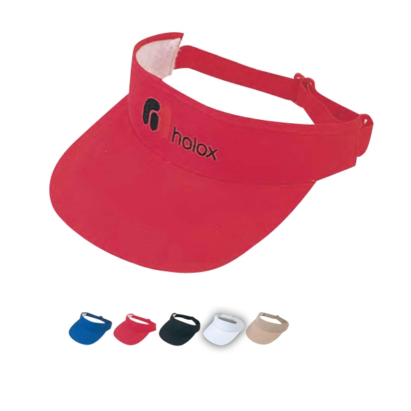 Pro Style Deluxe Cotton Twill Visor With Pro Stitch On Crown Photo