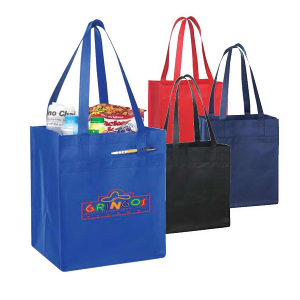 Eco-friendly Collection - Non-woven Tote With Fabric Covered Bottom Photo