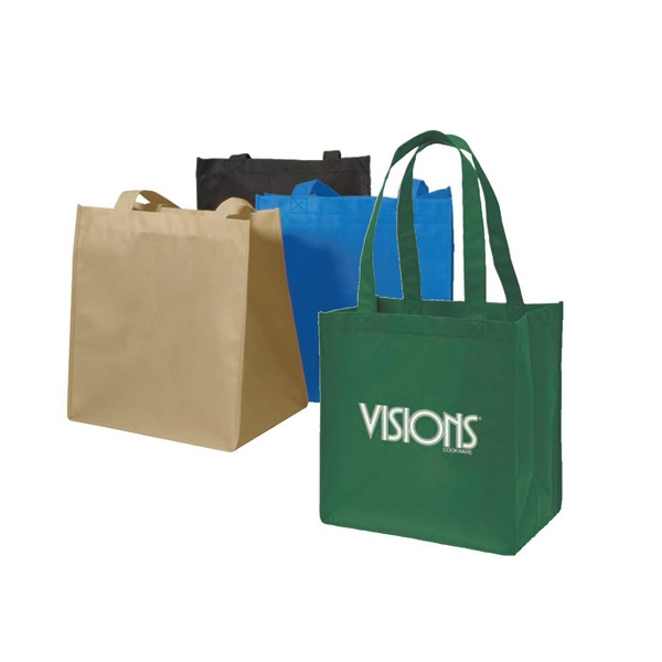 "Eco-friendly Collection - Non-woven Tote Bag, 12 1/4"" X 13 1/4"" X 8"" Photo"
