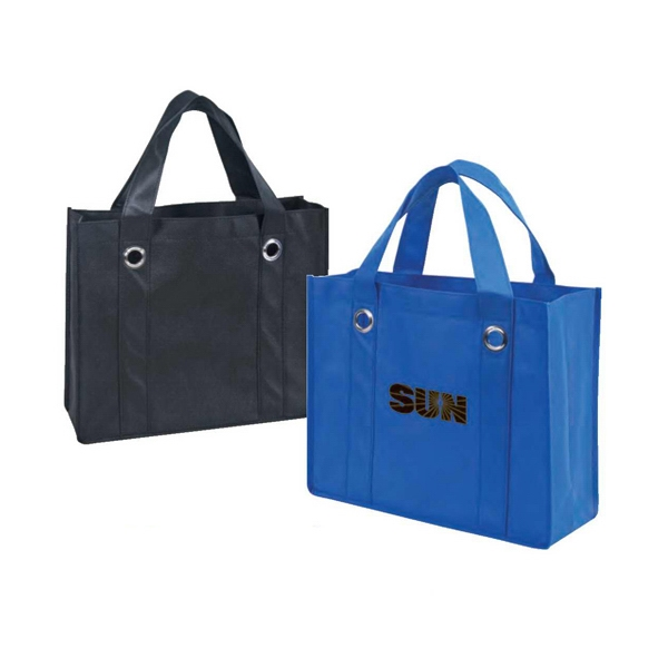 Eco-friendly Collection - Non-woven Tote Bag With Fabric Covered Bottom Photo