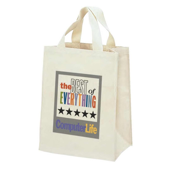 "Natural 13 Oz. Cotton Canvas Tote Bag With Gusset, 11"" X 14"" X 6"" Photo"