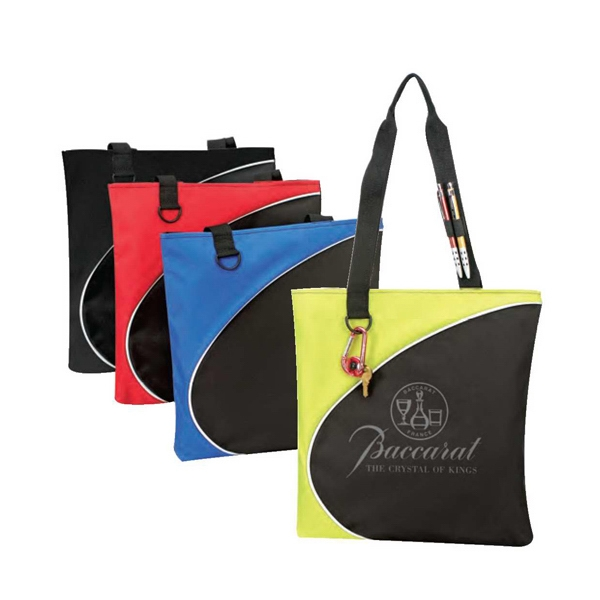 "Polyester 600 Denier Tote Bag With Heavy Vinyl Backing, 13 1/2"" X 14"" X 1 1/4"" Photo"