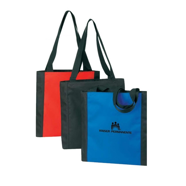 "Polyester Tote Bag With Heavy Vinyl Backing, 14"" X 14"" X 1 1/4"" Photo"