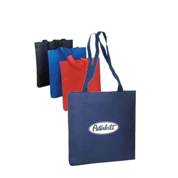 "600d Poly Tote Bag With Heavy Vinyl Backing, 14 1/2"" X 15 1/2"" X 1 1/4"" Photo"