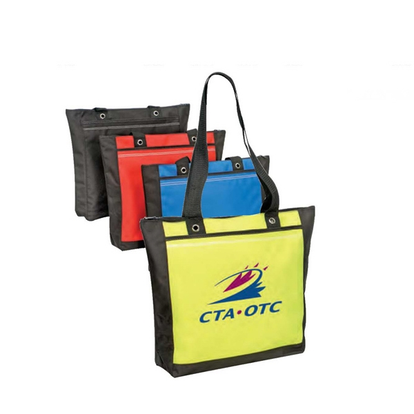 600d Polyester Tote Bag With Zipper And Heavy Vinyl Backing Photo