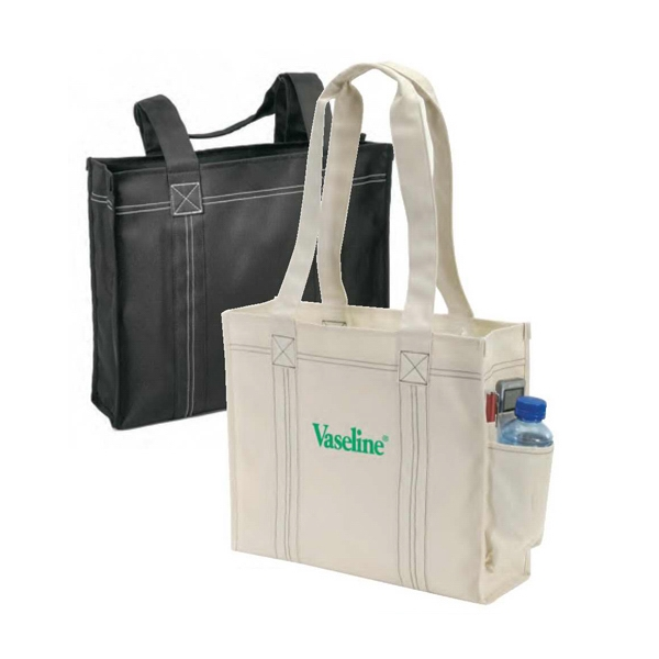 Deluxe Polyester Tote Bag With Heavy Vinyl Backing Photo