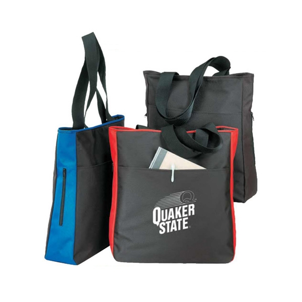 Polyester 600 Denier Side Zippered Tote Bag With Heavy Vinyl Backing Photo