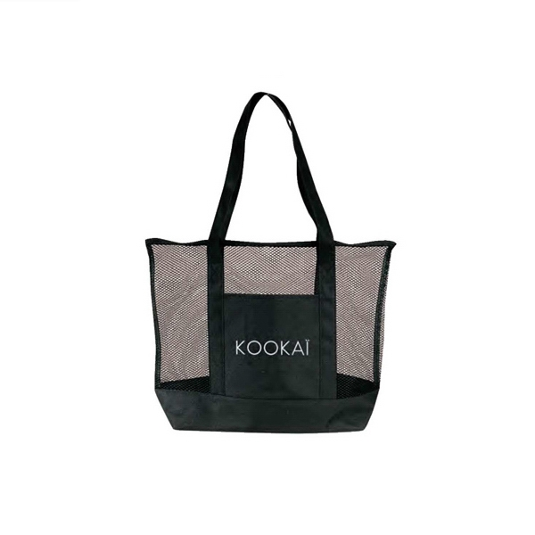 "600 Denier Polyester Deluxe Zippered Mesh Tote Bag, 20"" X 16"" X 5 1/2"" Photo"
