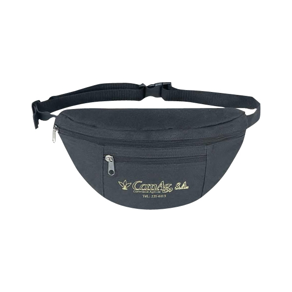 600 Denier Polyester Two-zipper Fanny Pack With Heavy Vinyl Backing Photo