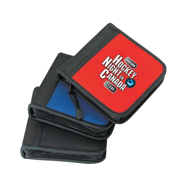Leather-like 24 Cds Holder With Full Zippered Closure Photo