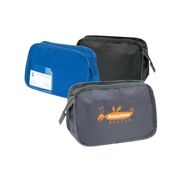 "Nylon/pvc Make Up Bag, 9 1/2"" X 6 1/2"" X 4 1/2"" Photo"