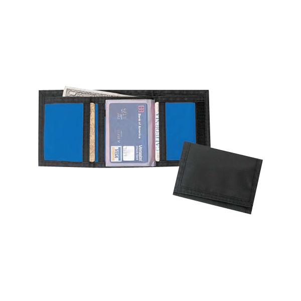 Tri-fold 420 Denier Nylon Wallet With Coin Compartment And Velcro Closure Photo