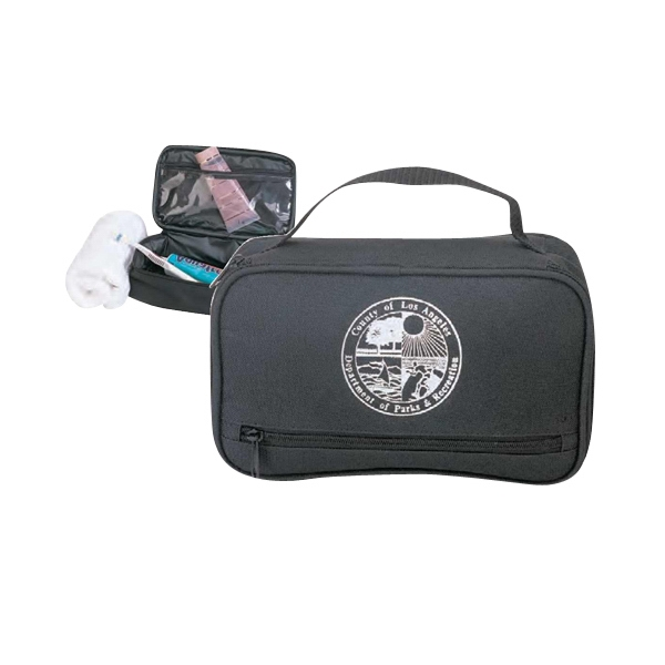 600 Denier Polyester Travel Kit With Zippered Front Pocket And Carry Handle Photo