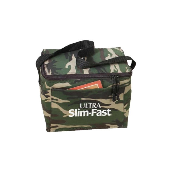 Camo 6-pack Cooler With Heavy Vinyl Backing Photo