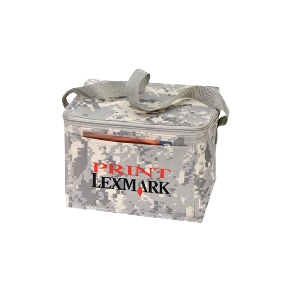 "Digital Camo 6 Pack Cooler With Heavy Vinyl Backing, 8 1/2"" X 6 1/2"" X 6 1/2"" Photo"