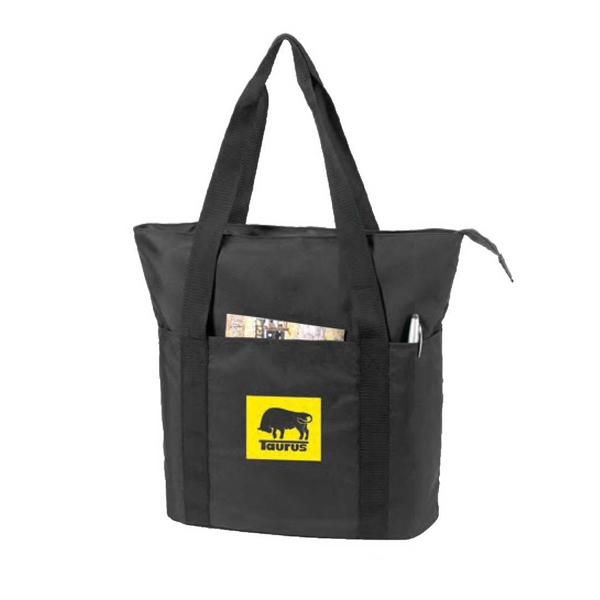 Eco-friendly Collection - Recycled Zippered Tote Bag Made Of Eco 100% Post Consumer Recycled Pet Photo