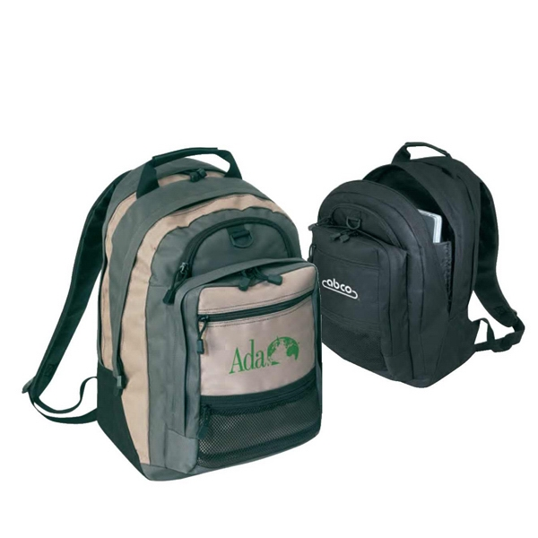 Computer Backpack, 600 Denier Polyester With Heavy Vinyl Backing Photo