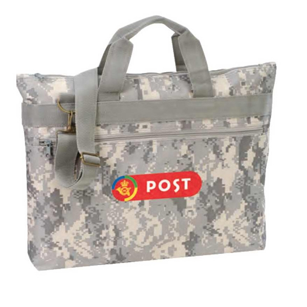 Polyester Digital Camo Document Bag With Heavy Vinyl Backing Photo