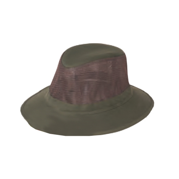 Men's Twill Mesh Hat With Heavy Weight Hard Brim Photo