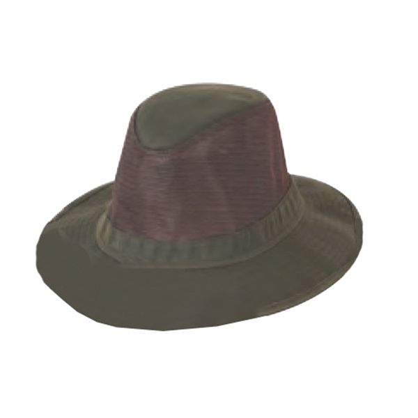 Men's Washed Twill Mesh Hat With Soft Brim Photo