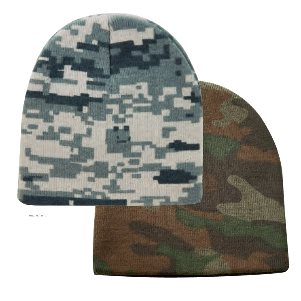 Super Stretch Camo Beanie Cap Photo