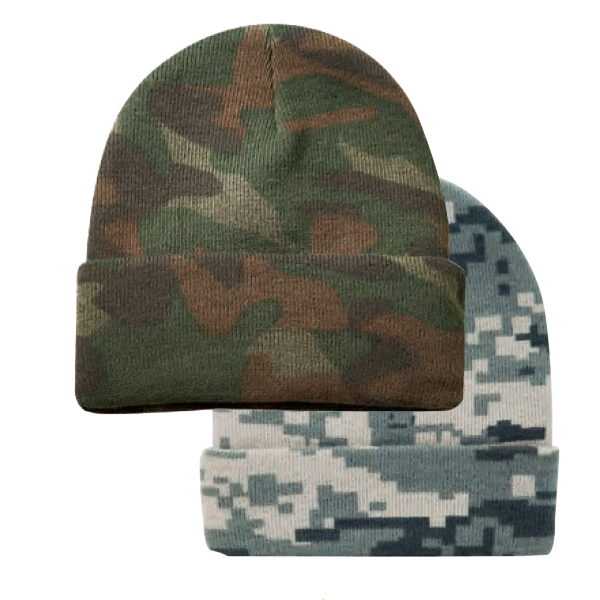 Camo Knitting Cap Photo