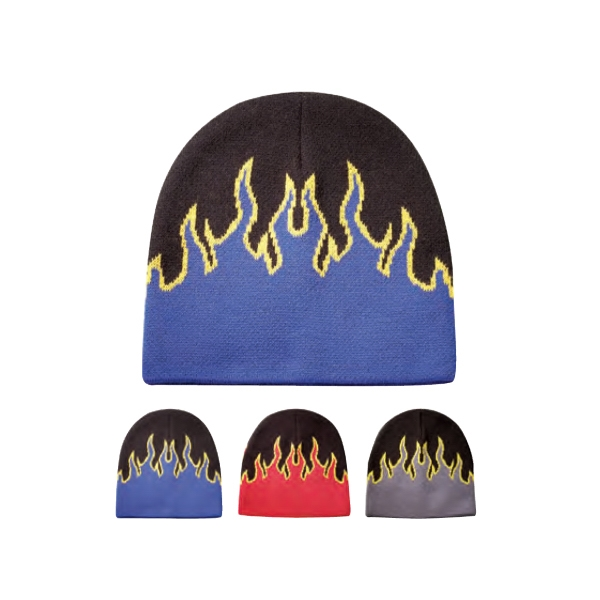 Flame Beanie Cap Photo