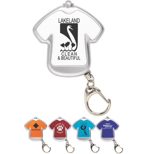 Tee Light - T-shirt Shaped Key Chain With Led Light Photo
