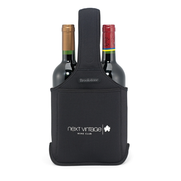 Brookstone (r) - Neoprene Wine Caddy, With Front Pocket, 2 Bottle-capacity Photo