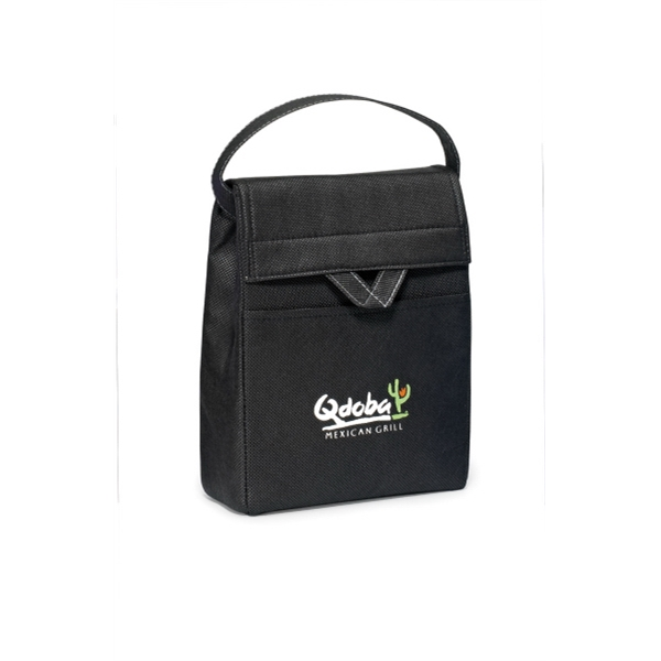 Olympus - Black - Foldable Lunch Cooler With Thermo Lining And Top Grab Handle Photo