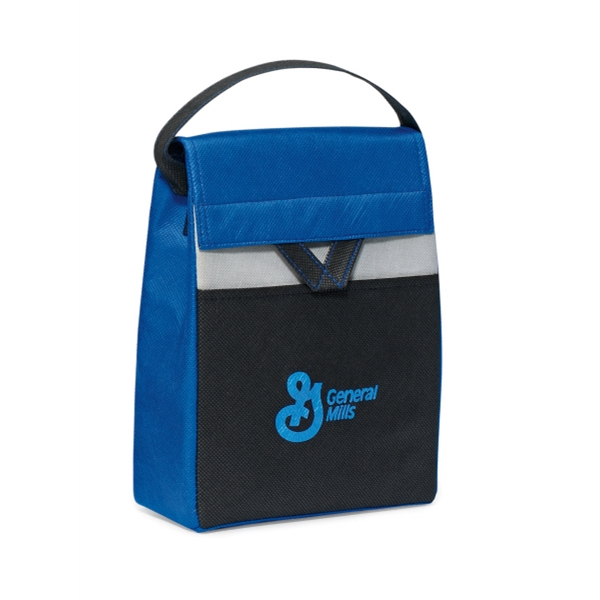 Olympus - Royal Blue - Foldable Lunch Cooler With Thermo Lining And Top Grab Handle Photo