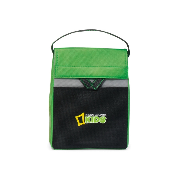 Olympus - Apple Green - Foldable Lunch Cooler With Thermo Lining And Top Grab Handle Photo