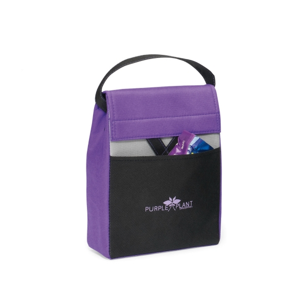 Olympus - Purple - Foldable Lunch Cooler With Thermo Lining And Top Grab Handle Photo