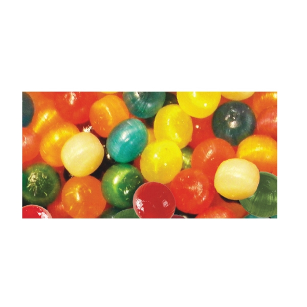 Assorted Hard Candy Fruit Balls In A Stock Design Wrapper Photo