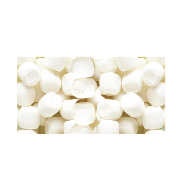 White Butter Mints Soft Candy In A Stock Design Wrapper Photo
