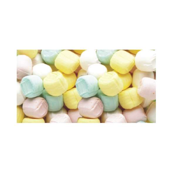 Pastel Butter Mints Soft Candy In A Stock Design Wrapper Photo