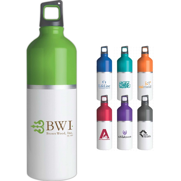25 Oz. 2-tone Color Spot Aluminum Water Bottle Photo