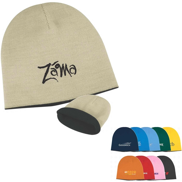 2-tone Knit Cap With Contrasting Color Accent Photo