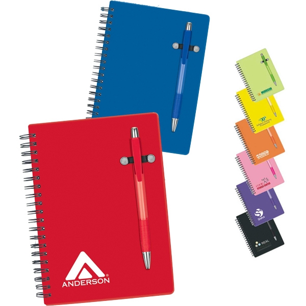 Pen-buddy - Notebook With Translucent Color Design Cover And Matching Pen Photo
