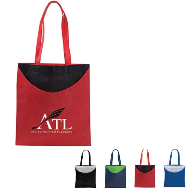 "Poly Pro Scoop - Non Woven Polypropylene Tote Bag With Scoop And 22"" Handles Photo"
