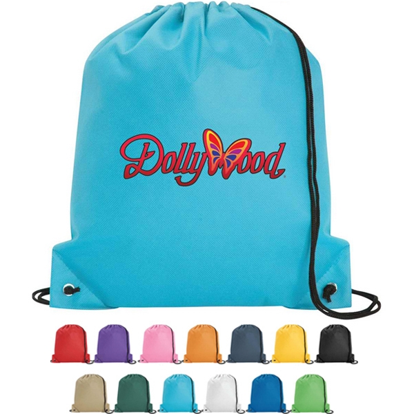 Poly Pro - Silkscreen - Polypropylene Drawstring Tote Bag With Double Drawcord Closure Photo