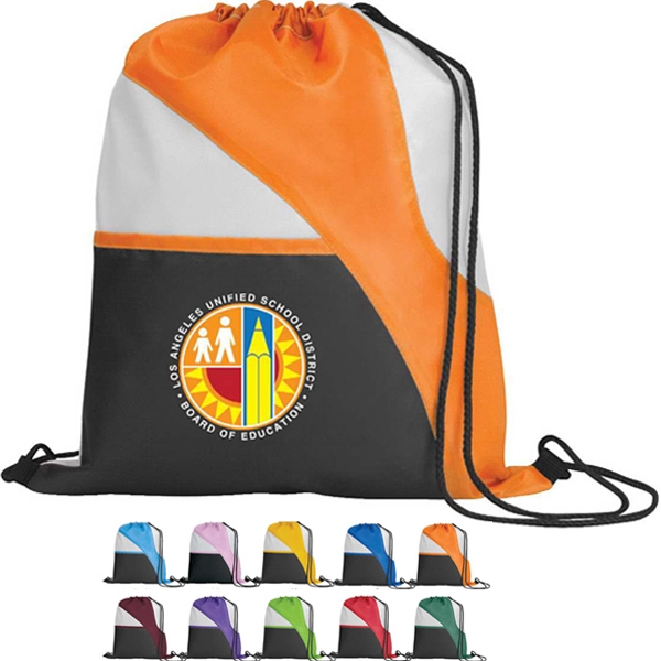 Tri-color - Silkscreen - Drawcord Tote Bag With Reinforced Corner Photo