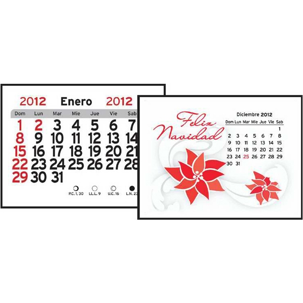 Magna Stick (tm) - Spanish 13-month Magnetic Calendar Pad Photo