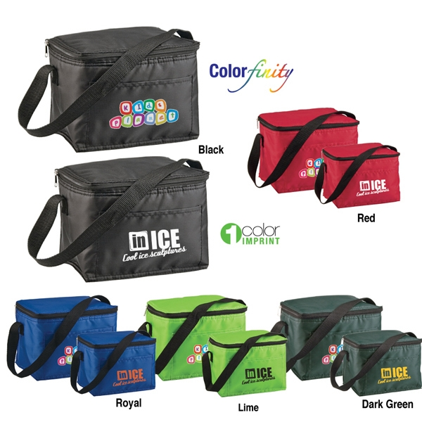 Sale 5-7 Day Production - Six Pack Cooler Bag Holds Six 12 Oz Cans Plus Ice Photo