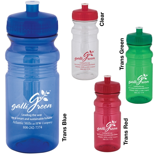 Polyclear (tm) - Catalog 5-7 Day Production - 20 Oz Sport Bottle With Jewel Tone Pop-top Lid Photo