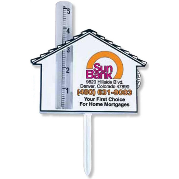 "Home Rain Gauge With 3"" Spike And Memory Wheel Photo"