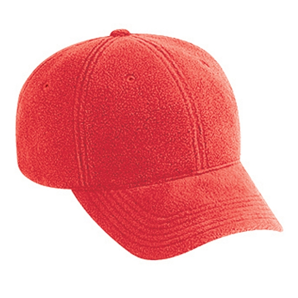 Low Fitting, Six Panel Polyester Micro Fleece Low Profile Pro Style Cap. Blank Photo