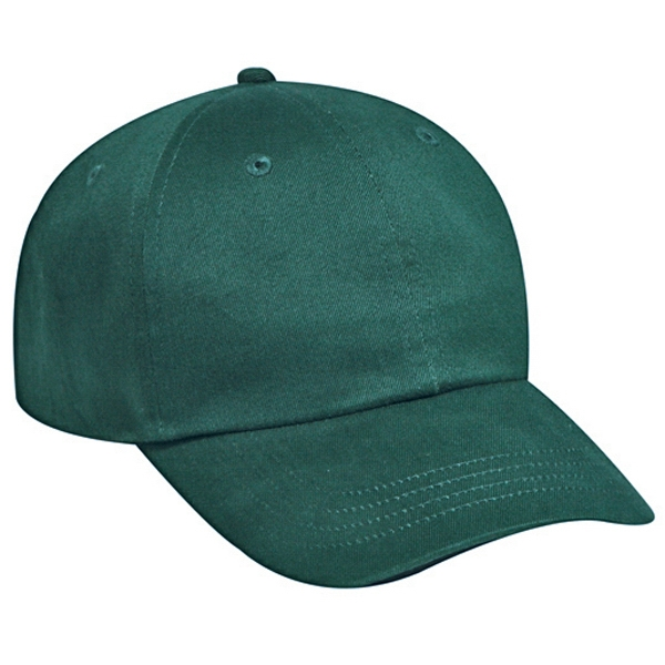 Brushed, Solid Color, Six Panel Soft Crown Cap In 100% Cotton Twill. Blank Photo