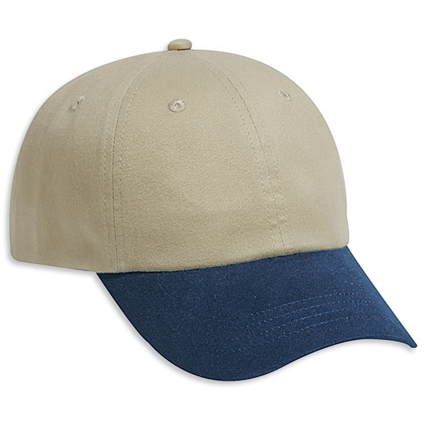 Brushed, Two Tone Six Panel Low Profile Pro Style Low Fitting Cap. Blank Photo