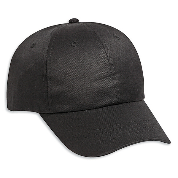 Six Panel Cotton Twill Pro Style Cap With Adjustable Hook And Loop. Blank Photo